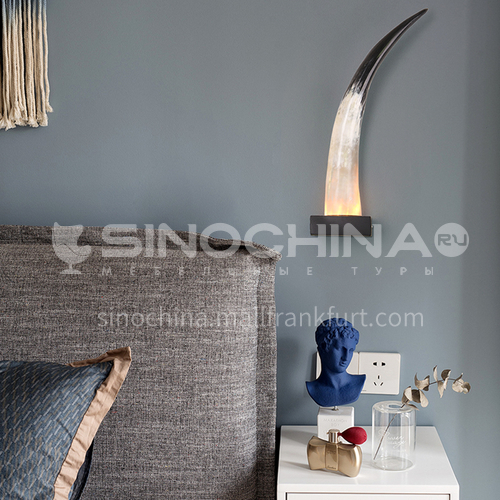 Creative living room lamp restaurant hotel villa horn wall lamp MQCL-horn