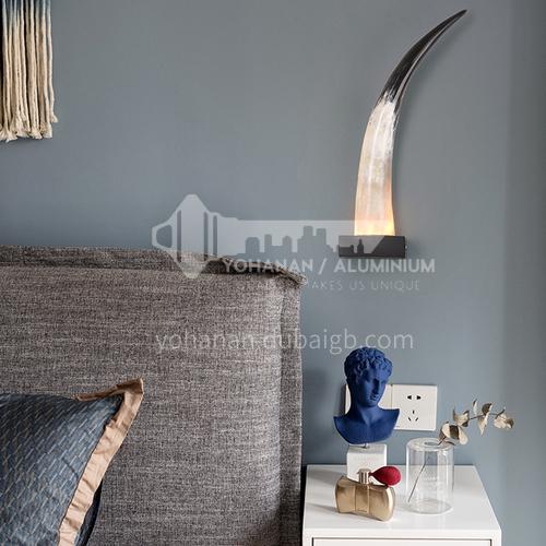 Creative living room lamp restaurant hotel villa horn wall lamp MQCL-horn