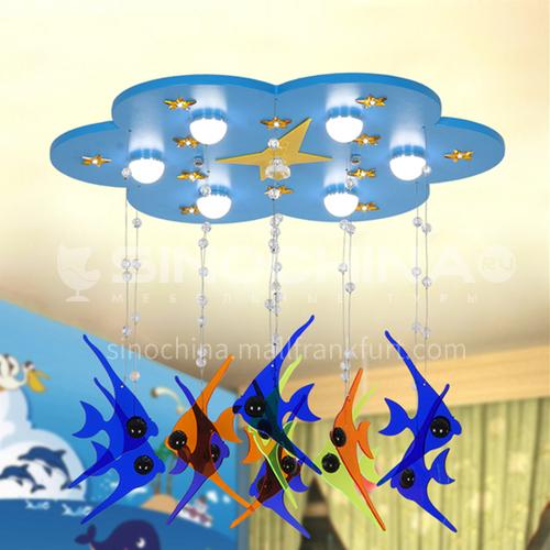 Bedroom Simple Creative Personality Mediterranean Sea Rudder Cartoon Eye Protection Light-DDBE-P8910