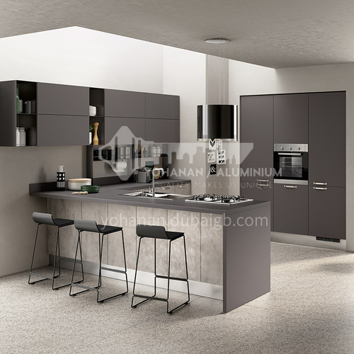 Modern style UV Lacquer with HDF Kitchen cabinet-GK-686