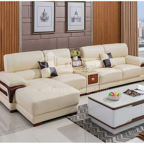 HH-A1# Living room modern simple multifunctional sofa combination + two material options