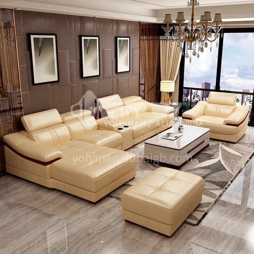 HH-A3# Living room modern simple multifunctional sofa combination + two material options + multiple color options