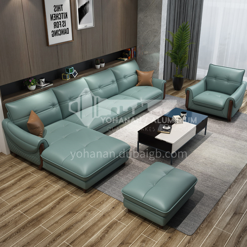 HH-A5# Living room modern simple multifunctional sofa combination + two material options + multiple color options