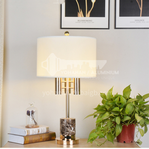 Modern simple crystal marble table lamp living room study bedroom bedside American luxury table lamp XYJJ-XY0747TL