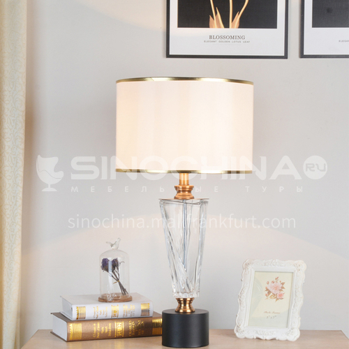 Modern minimalist crystal table lamp Nordic creative bedroom study decoration table lamp XYJJ-XY0755TL