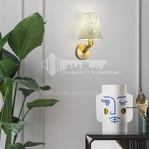 European style bedroom wall lamp creative room bedside lamp staircase corridor aisle lamp fabric modern minimalist lamps ND-209