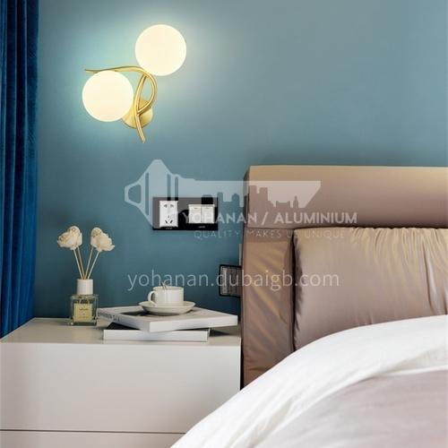 European style bedroom wall lamp creative room bedside lamp staircase corridor aisle lamp fabric modern minimalist lamps ND-223