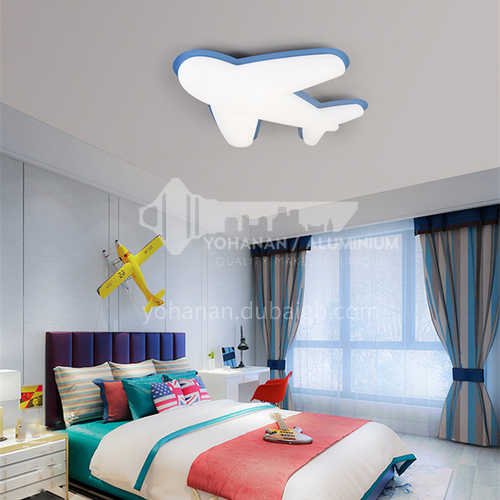 Aircraft Nordic bedroom lamp modern minimalist warm boy and girl ceiling lamp-DDBE-P-1717