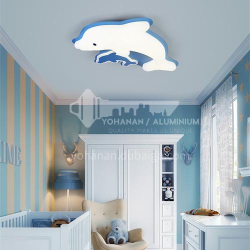 Cartoon bedroom lamp boy girl princess room lamp Nordic creative master bedroom dolphin lamp-DDBE-P-1718