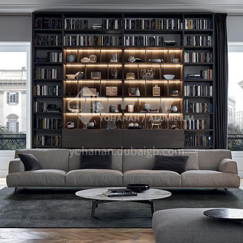 MY-699 Living room high-end Italian minimalist high-end cotton and linen sofa + seat bag 45 density sponge + cushion, pillow 3A doll cotton + hardware frame + hardware feet
