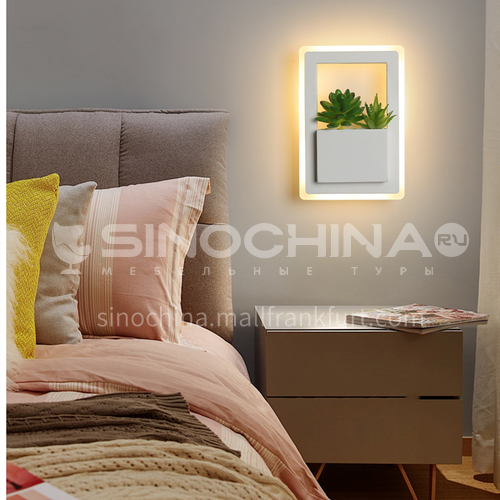 Modern minimalist creative wall lamp bedside warm wall lamp living room bedroom decorative lighting-FLY-LY8003