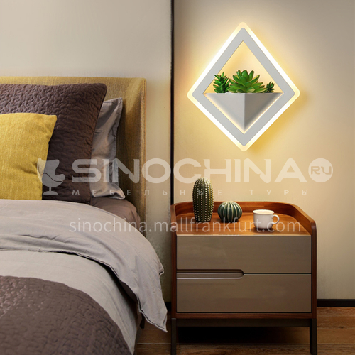 Modern minimalist creative wall lamp bedside warm wall lamp living room bedroom decorative lighting-FLY-LY8002