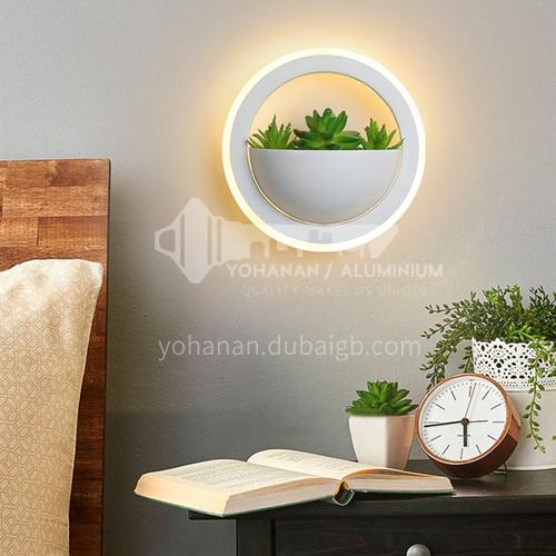 Modern minimalist creative wall lamp bedside warm wall lamp living room bedroom decorative wall lamp-LY8001B