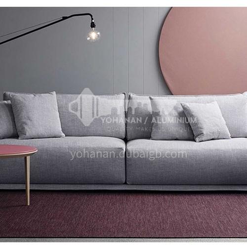 MY-A06 Living room Nordic modern minimalist removable and washable fabric sofa + high-density high-resilient sponge + pine wood frame + oak sofa feet
