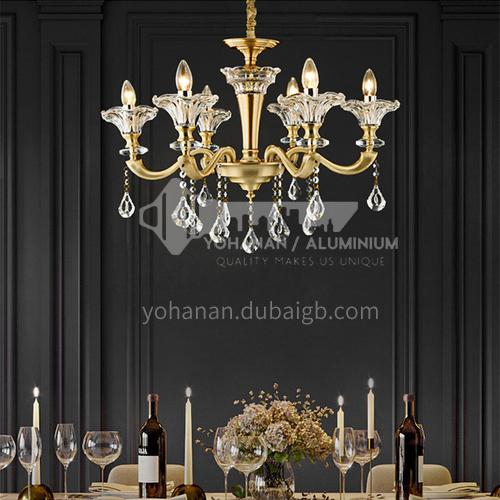 European style chandelier living room lamp luxury atmosphere dining room lamp modern minimalist simple European chandelier-DH-9502