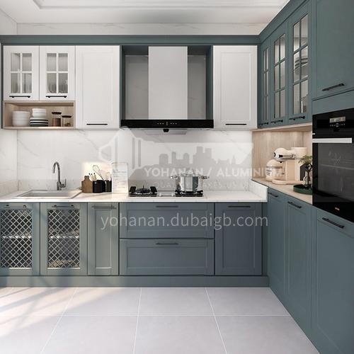 European style PVC with HDF kitchen cabinet GK-810