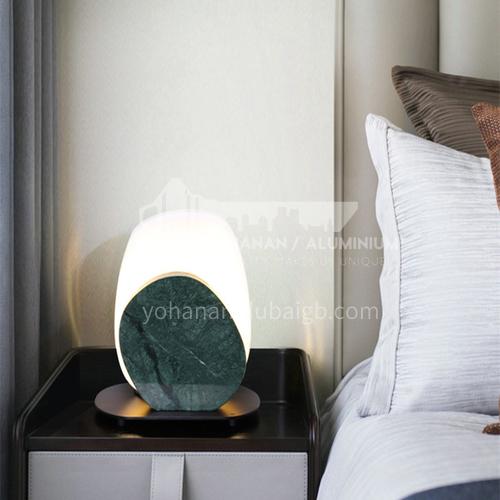 Light luxury modern marble table lamp living room decoration table lamp European style bedroom bedside lamp-JWJ-T553