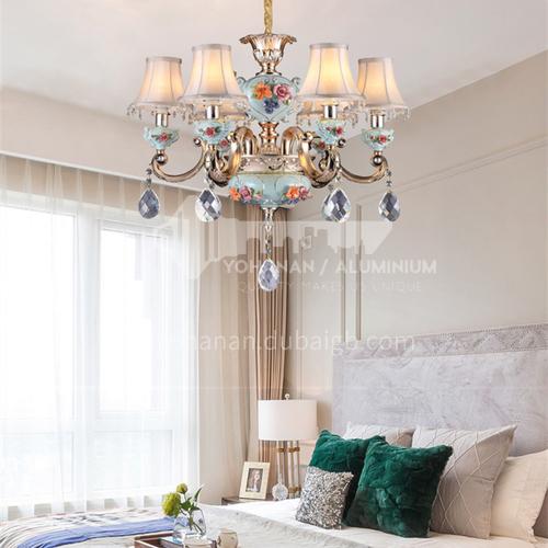 European luxury atmosphere living room chandelier villa bedroom dining room crystal chandelier-BYM-8061