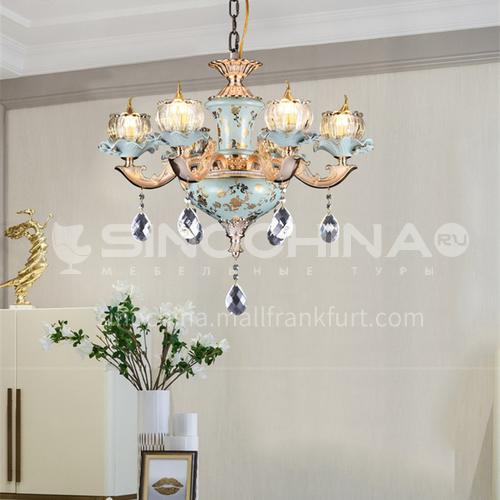 European style chandelier living room lamp luxury atmosphere bedroom dining room lamp simple villa chandelier-BYM-8062