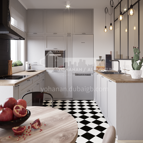 Classical style PVC with HDF kitchen-GK-794