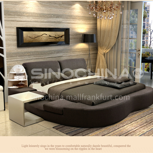 MY-3003- Nordic minimalist pine frame solid wood row skeleton removable and washable high-density sponge cushion tatami soft bed