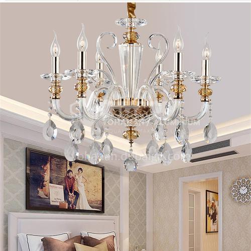 European style chandelier living room light crystal chandelier glass dining room bedroom chandelier-FD-8021
