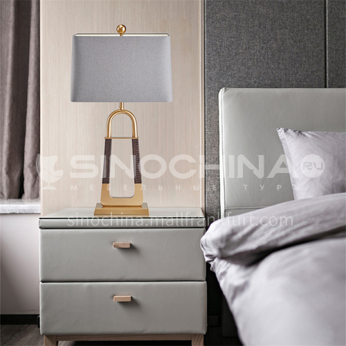 Modern light luxury metal table lamp creative personality bedroom bedside lamp living room study decorative lamp-JWJ-T814