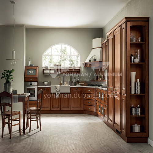 American style Classical style PVC with HDF kitchen-GK-763