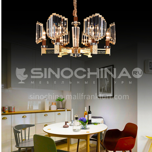 Light luxury chandelier modern living room bedroom crystal lamp room atmosphere dining room lighting-JMZG-9013