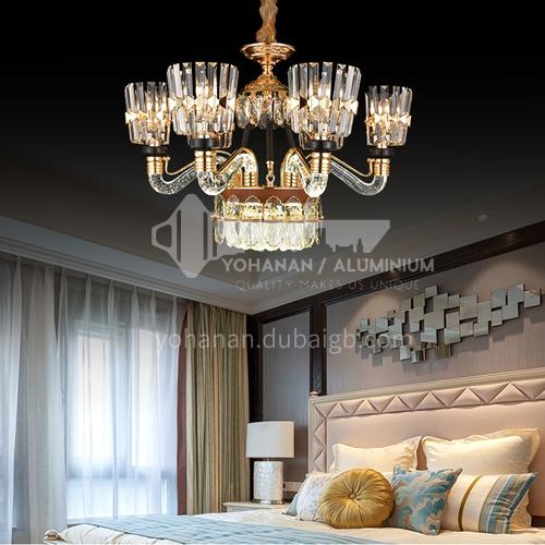 Light luxury crystal chandelier living room luxury high-end modern minimalist lamps-JMZG-9127