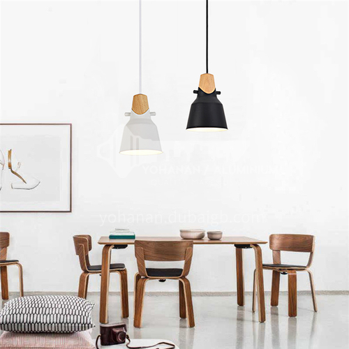 Dining room chandelier creative personality decoration guest room Nordic simple modern dining room solid wood led chandelier-ZMX-NMC5601B
