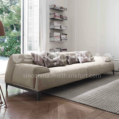 MY-288 Living room Nordic modern minimalist cotton and linen fabric sofa + high-quality rebound sponge + oak tripod