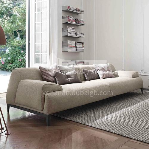 MY-288 Living room Nordic modern minimalist cotton and linen fabric sofa + high-quality rebound sponge + oak tripod