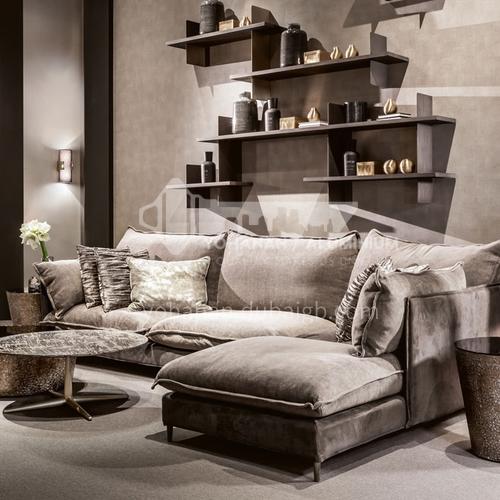 MY-617 living room Nordic modern minimalist removable and washable cotton and linen sofa + pine frame + oak sofa feet + high density sponge + latex cushion