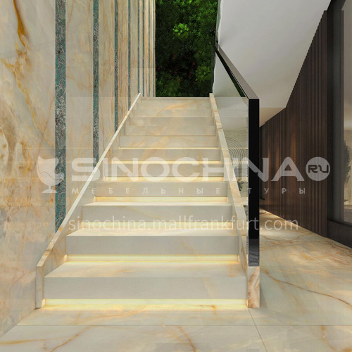 Natural white luxury jade staircase O-BD50Y