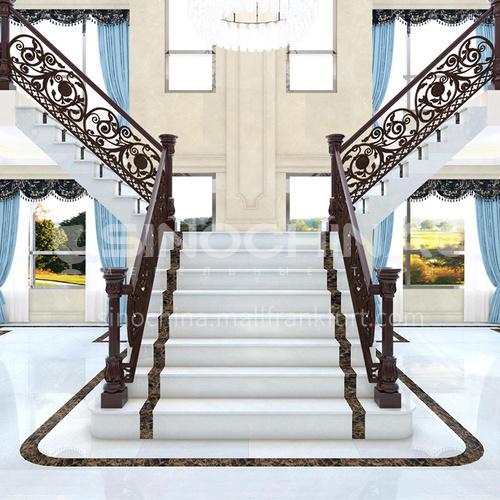 Natural white modern marble staircase M-BD00B