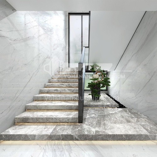 Natural gray modern marble staircase M-GB20B