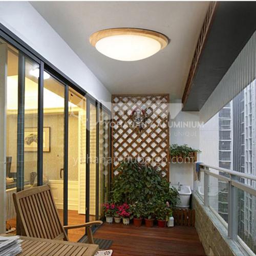 Nordic ceiling lamp bedroom lamp log round balcony corridor led lamp modern living room ceiling lamp ZMX-NMX5370C