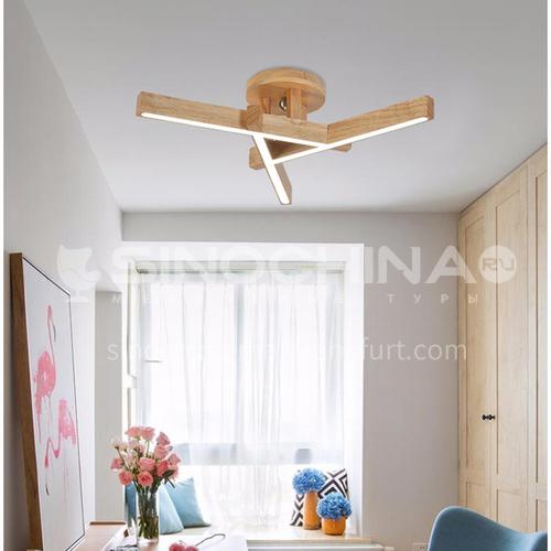 Nordic living room ceiling lamp solid wood modern bedroom led ceiling lamp ZMX-NMX5813