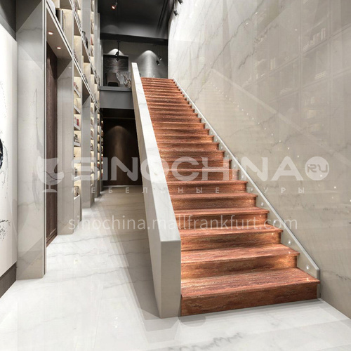 Natural red luxury modern marble staircase M-HB99D