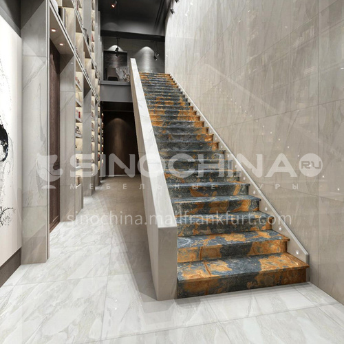 Natural white modern jade staircase O-KE95T