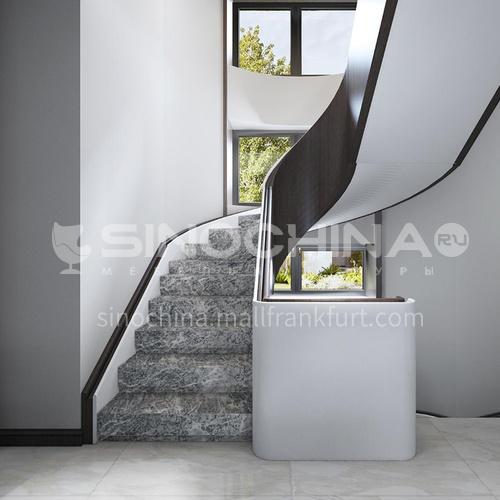 Natural gray modern marble staircase M-KA04H