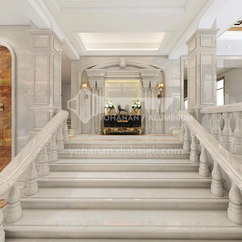 Natural beige European style marble staircase M-PA50T