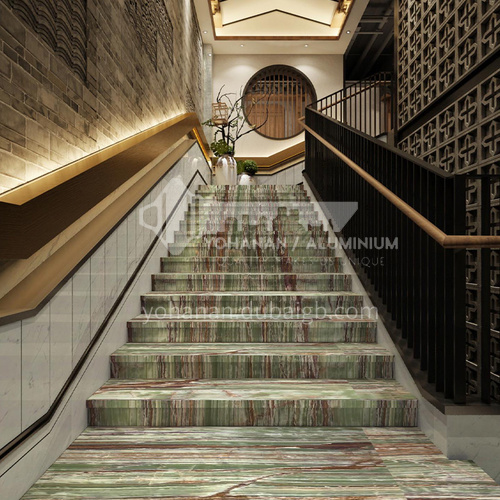 Natural green luxury jade staircase O-TC55Q