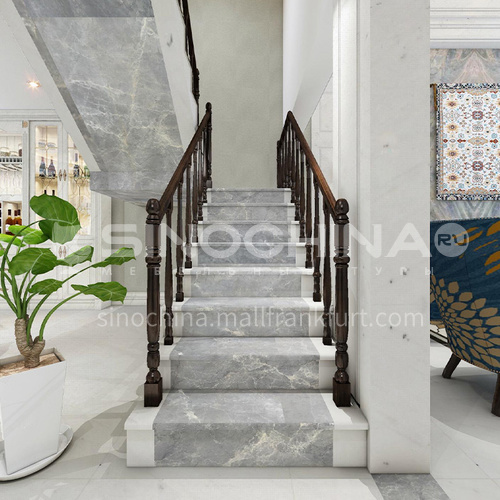 Natural gray modern marble staircase M-YA60D