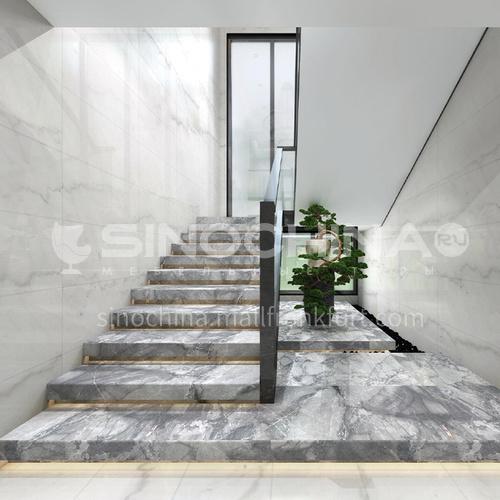 Natural gray modern marble staircase M-YA96H