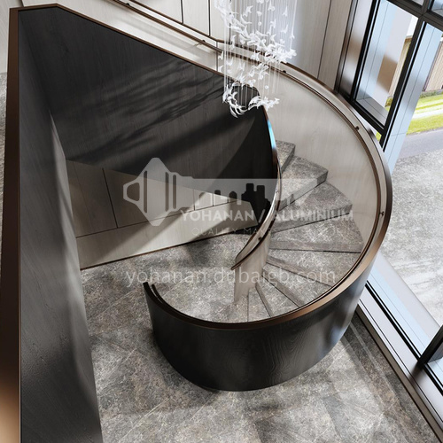 Natural grey hot selling modern marble staircase M-XA79L