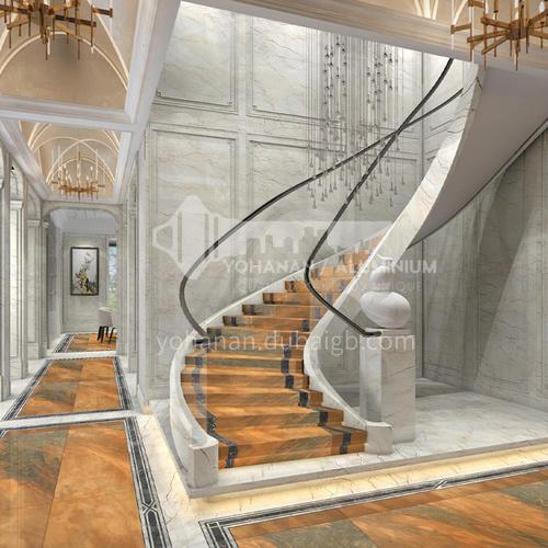 Natural yellow European style marble staircase M-WA22X
