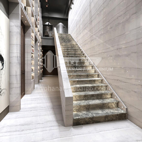 Natural gray modern marble staircase M-YA88Y