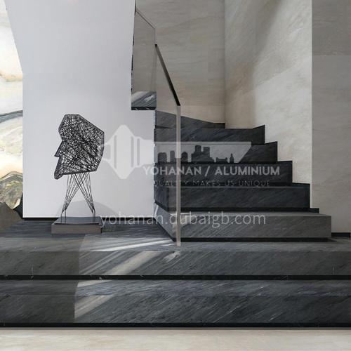 Natural grey modern marble staircase M-BA02J
